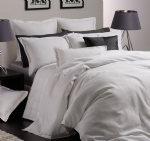 Ascot Quilt Cover Set - White